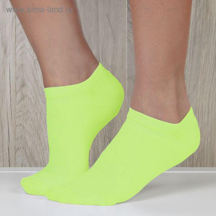 Набор носков женских  ONLITOP спорт-3 шт, р-р36-39, бел, черн, желт,75% п/а,22% п/э,3% эл.