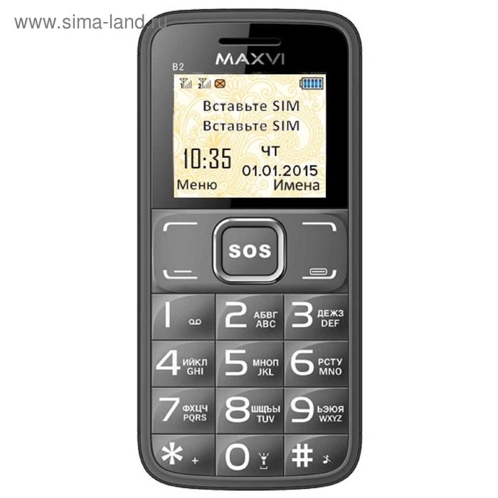 Мобильный телефон Maxvi B2, серый