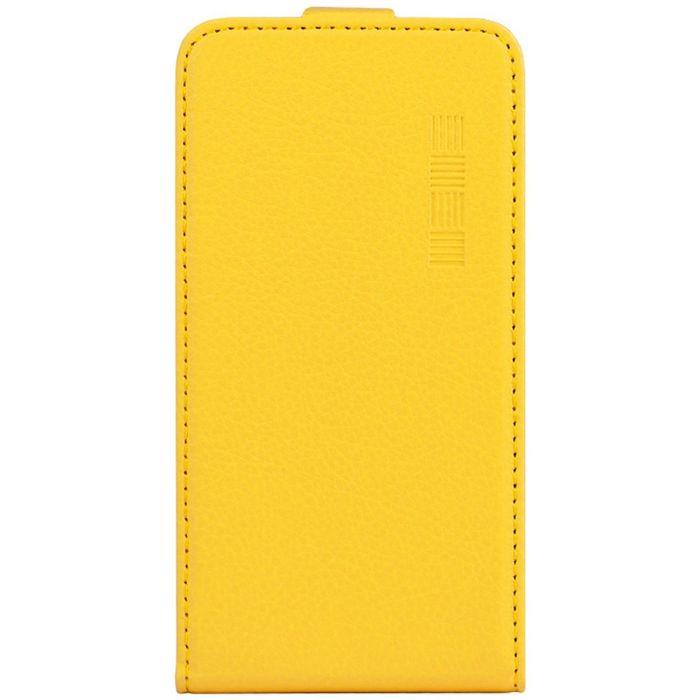 """Чехол InterStep NEXT флипкейс 5,0-5,2"""" желтый (144х77х9)"""