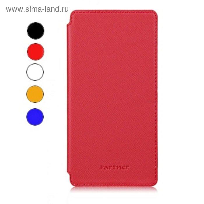 """Чехол Partner Book-case 3,8"""", красный  (размер 6.3*12.2 см)"""