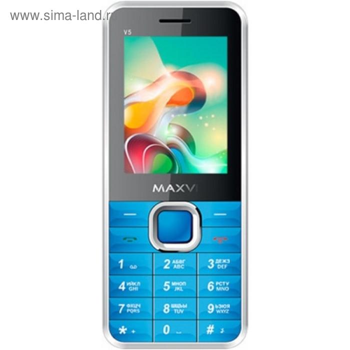 Мобильный телефон Maxvi V5, синий