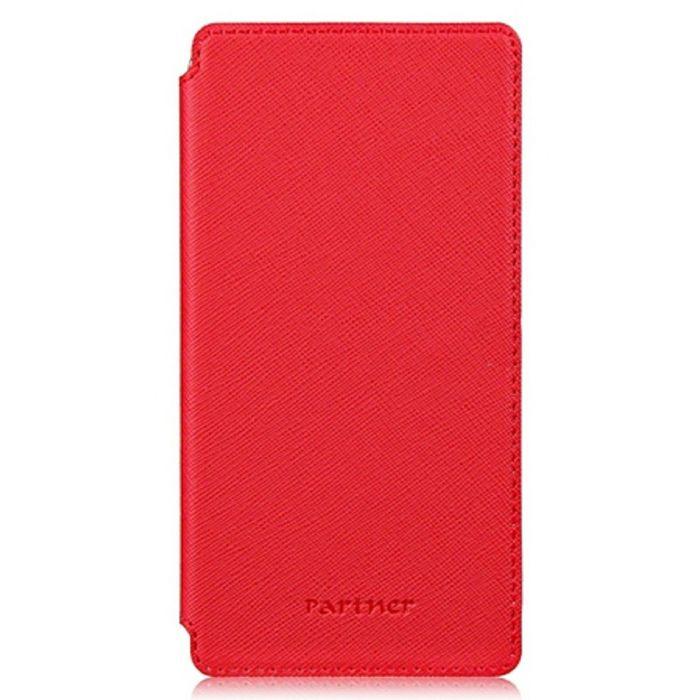 """Чехол Partner Book-case 4,8"""", красный  (размер 7.0*13.7 см)"""