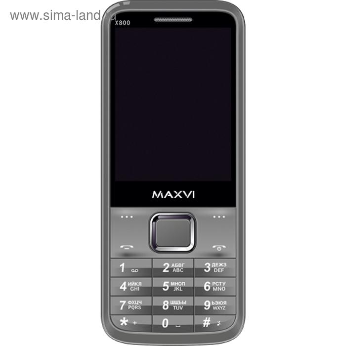 Мобильный телефон Maxvi X800, серый