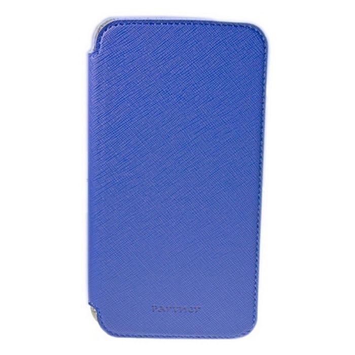 """Чехол Partner Book-case 5,2"""", синий  (размер 7.5*14.9 см)"""