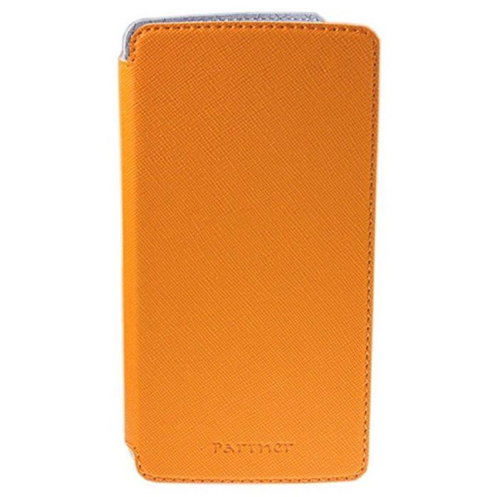 """Чехол Partner Book-case 5,5"""", оранжевый  (размер 8.0*15.5 см)"""