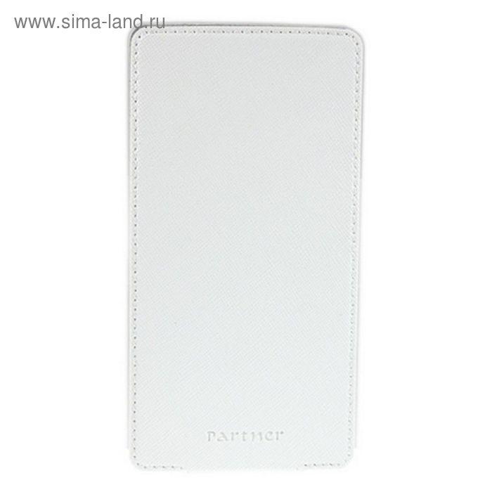 """Чехол Partner Flip-case 3,8"""", белый  (размер 6.3*12.2 см)"""