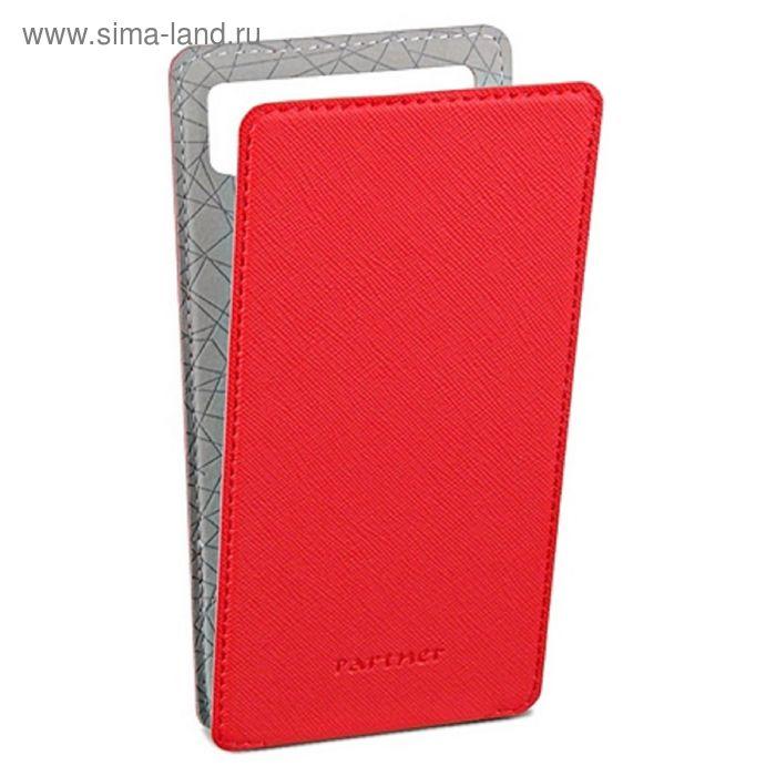 """Чехол Partner Flip-case 3,8"""", красный  (размер 6.3*12.2 см)"""