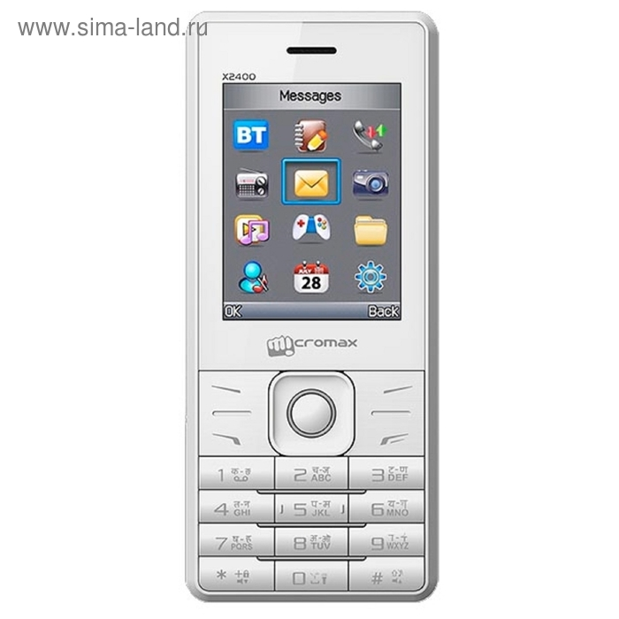 Мобильный телефон Micromax X2400, белый