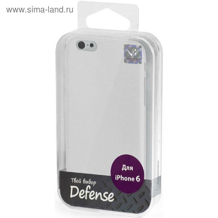 Чехол-крышка Vertex для iPhone 6/6S Soft Touch 0,5 мм белый  дым