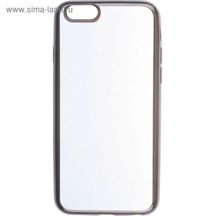 Чехол-крышка SkinBox iPhone 6/6 силиконовая, черный