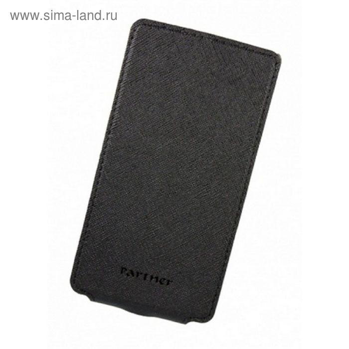 """Чехол Partner Flip-case 4,2"""", черный  (размер 6.9*13.0 см)"""