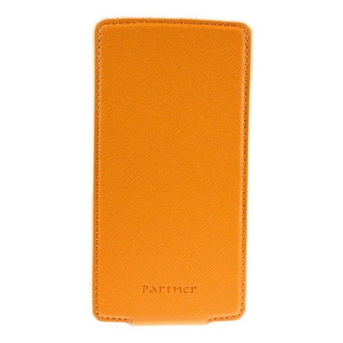 """Чехол Partner Flip-case 5,2"""", оранжевый  (размер 7.5*14.9 см)"""