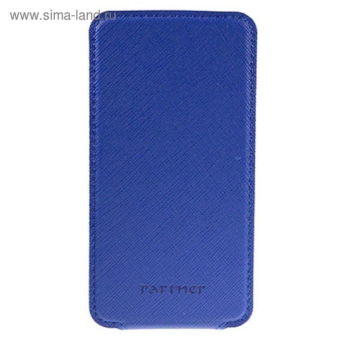 """Чехол Partner Flip-case 5,2"""", синий  (размер 7.5*14.9 см)"""