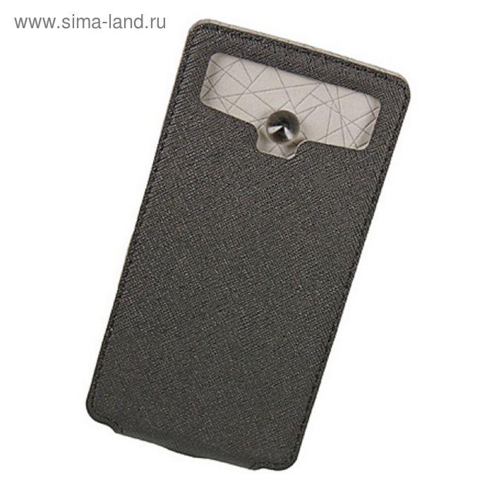 """Чехол Partner Flip-case 5,5"""", черный  (размер 8.0*15.5 см)"""