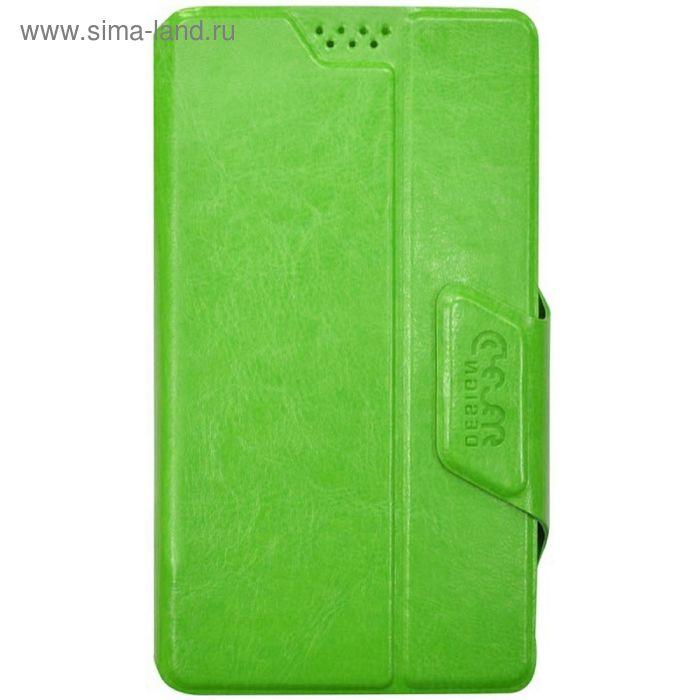 "Чехол Clever slide UP, книжка, размер XL (5.6-6.3"") зеленый"