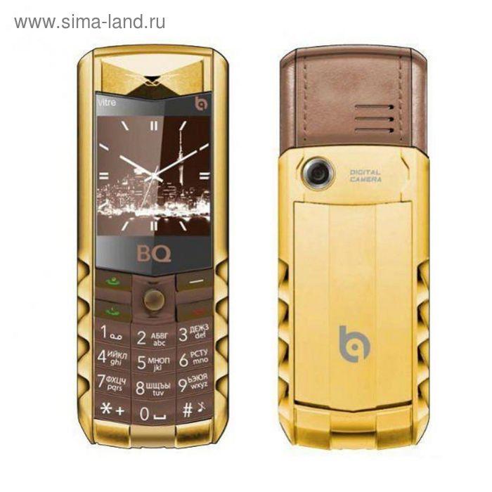 Мобильный телефон BQ M-1406 Vitre, коричневый, золотой