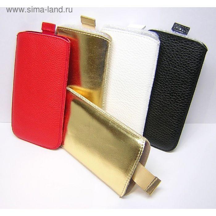 Чехол с лентой для Samsung Galaxy Note 3/N900, кожа белая, флотер