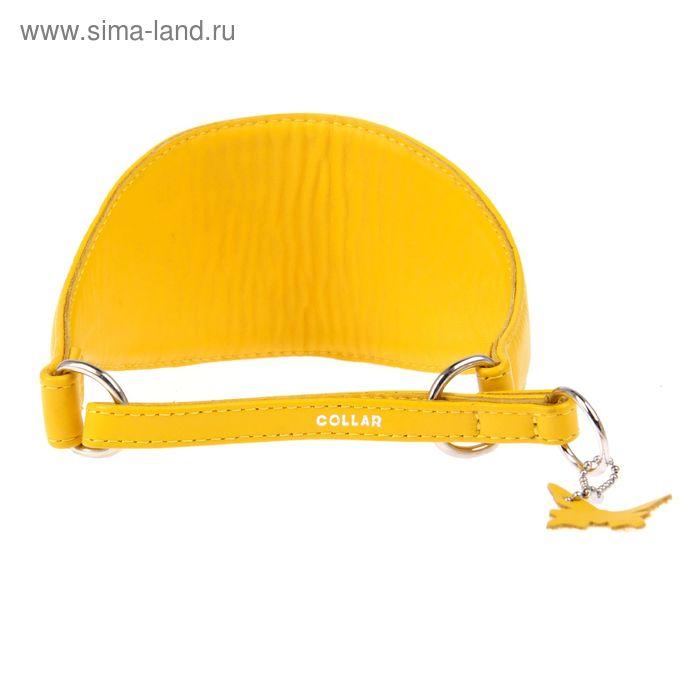 Ошейник-удавка широкий CoLLaR Glomour, 38-47 х 7,5 см, желтый