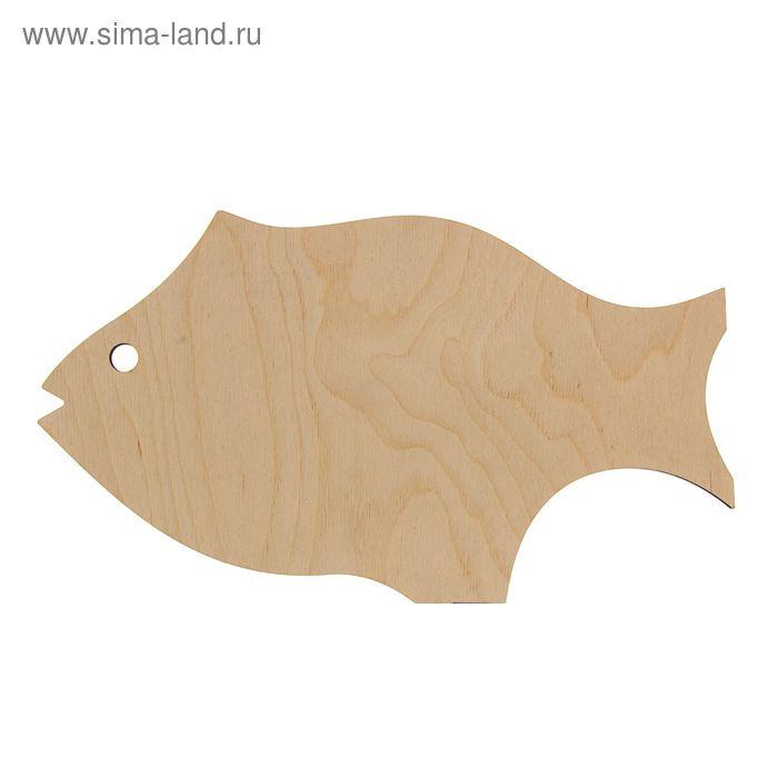 Доска разделочная фанера 210*375 рыба