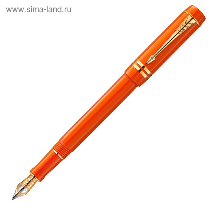 Ручка перьевая Parker Duofold F74 International Historical Colors Big Red GT перо F