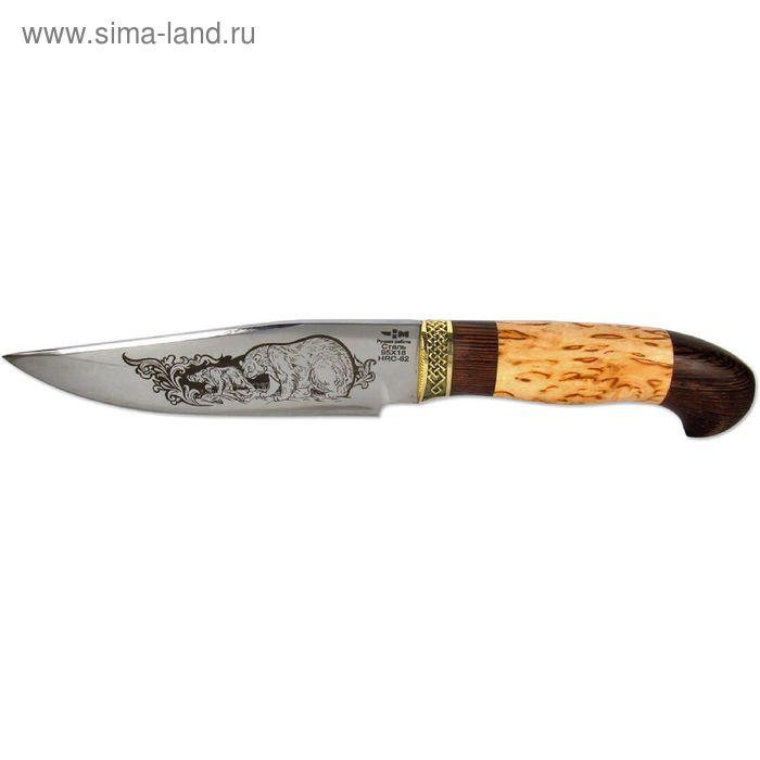 """Нож нескладной """"Куница"""" (6515)к, рукоять-венге/карельская береза, сталь 95х18"""