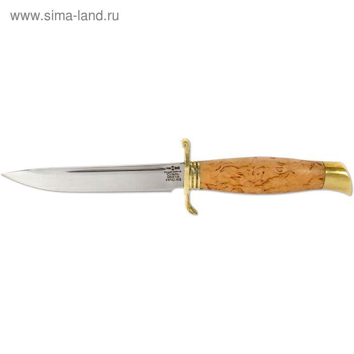 """Нож нескладной """"НКВД"""" (8097)к, рукоять-карельская береза, сталь 95х18"""