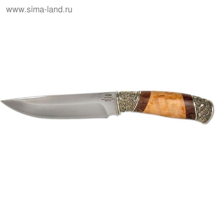 """Нож нескладной """"Варан"""" (9335)б, рукоять-венге/карельская береза, булатная сталь"""