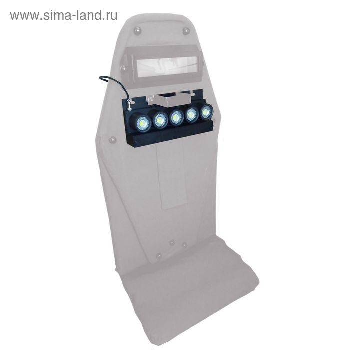 Пятиламповый светодиодный щитовой Фонарь, АКБ 1500мач,12В