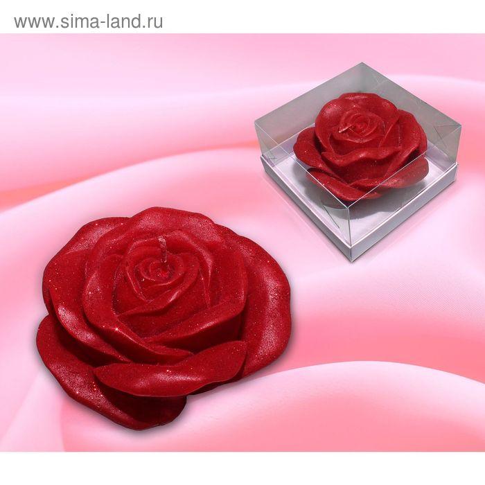 Свеча роза бордо