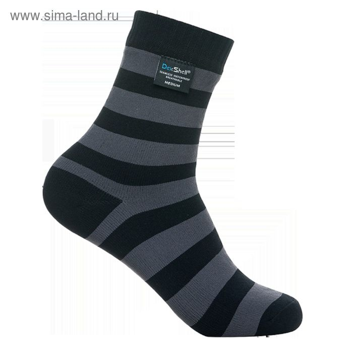 Носки водонепроницаемые XL Dexshell Ultralite Bamboo Black grey stripe DS643