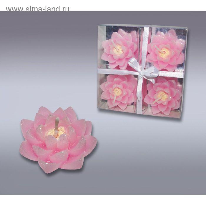 Набор свечей лилии розовые
