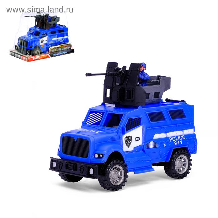 """Машина инерционная """"Полицейский броневик"""", световые и звуковые эффекты"""