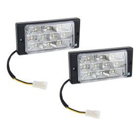 Противотуманные фары AVS PF-174L, светодиодные, 10 LED, LADA 2110-2112, набор 2 шт.