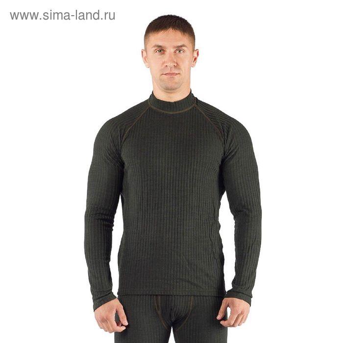 Футболка мужская SWU / дл. рукав / комбинир 180/ зеленый / L