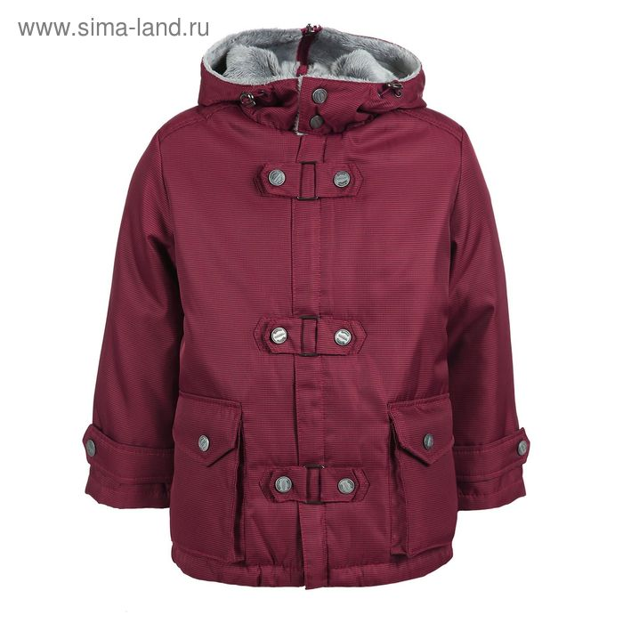 Куртка для мальчиков демисезонная, рост 98 см, цвет красный 17-435