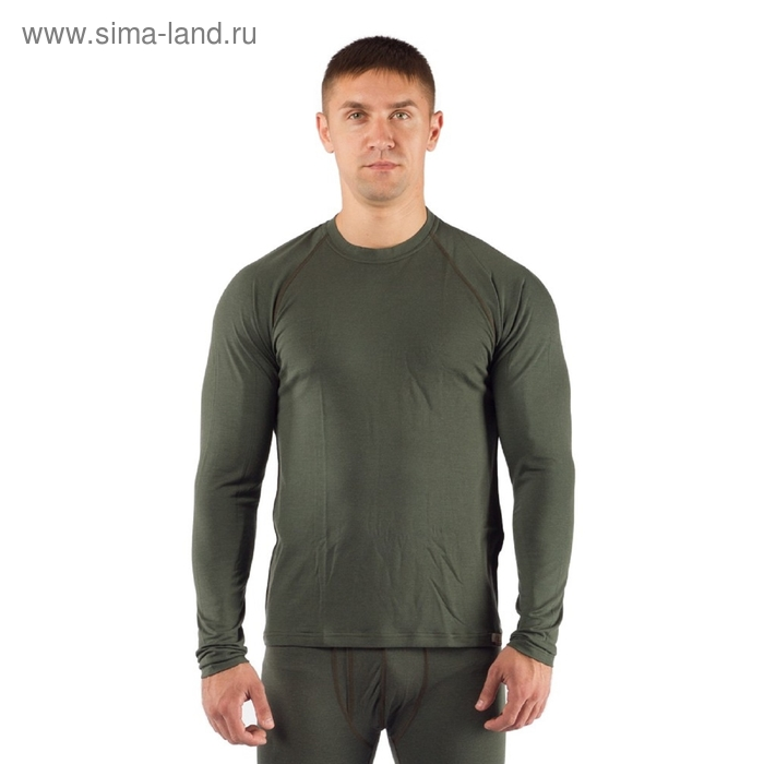 Футболка  мужская Atar/ дл. рукав/ шерсть 160/ зеленый / M
