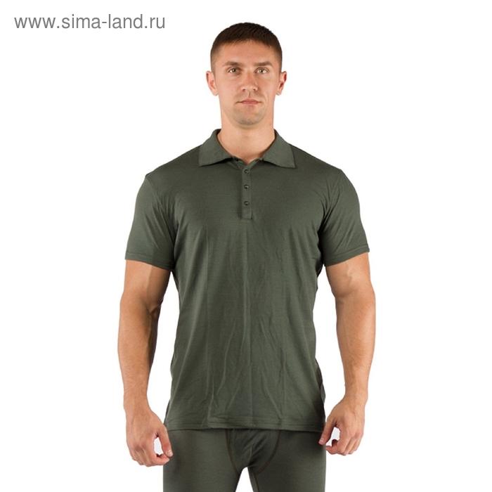 Футболка  мужская DINGO/ кор. рукав/ шерсть 160/ зеленый / M