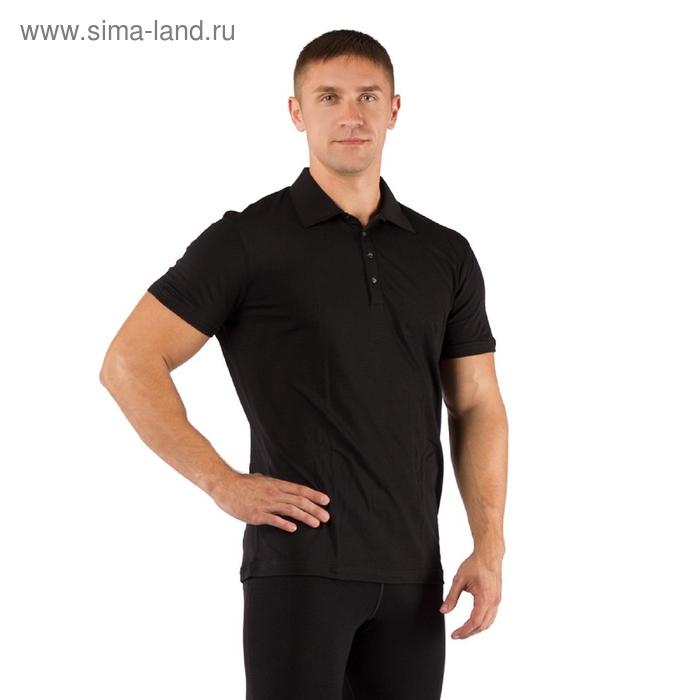 Футболка  мужская DINGO/ кор. рукав/ шерсть 160/ черный / XL