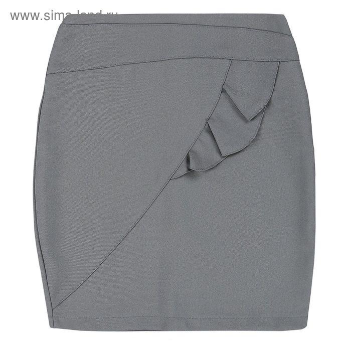 Юбка для девочки, рост 146 см, цвет серый 09-311