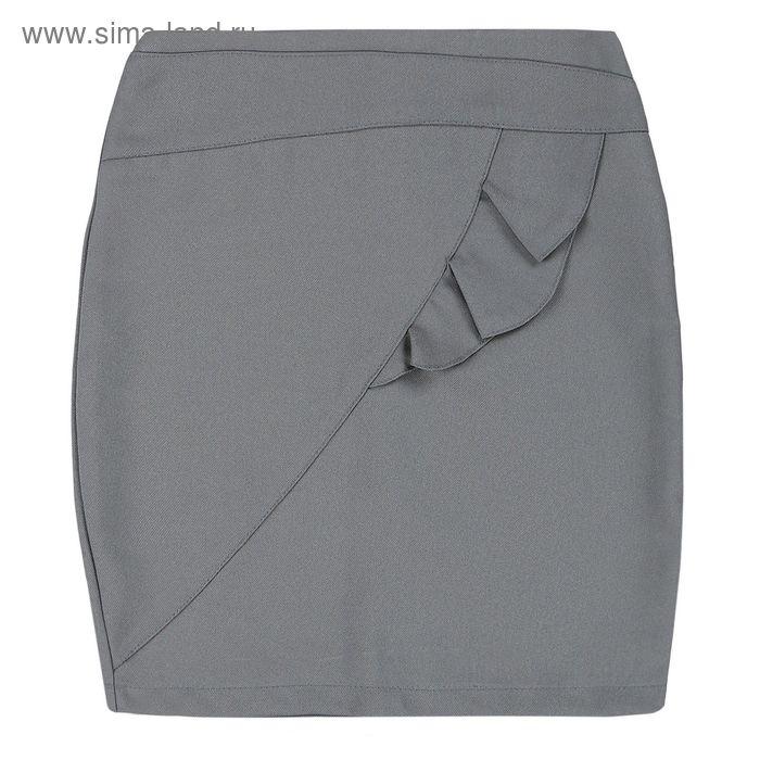 Юбка для девочки, рост 158 см, цвет серый 09-311