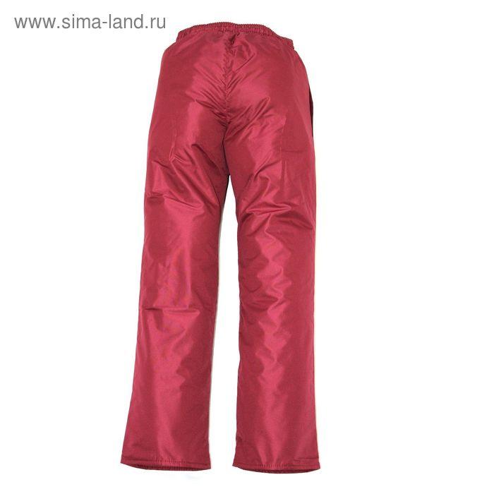 Брюки для девочки демисезонные, рост 134 см, цвет бордо 10-235