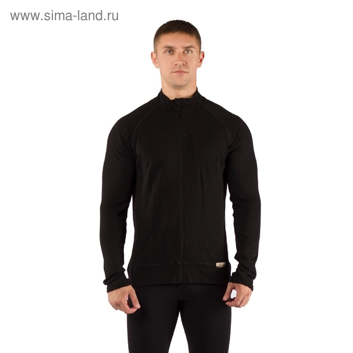 Футболка мужская OLE с дл. рукавом, шерсть 260, цвет чёрный, M