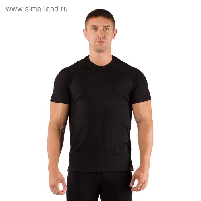 Футболка  мужская Quido/ кор. рукав/ шерсть 160/ черный / XXL