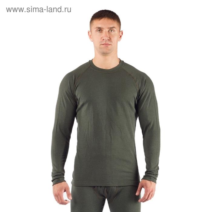Футболка мужская Rosta с дл. рукавом, шерсть 220, цвет зелёный, XXL