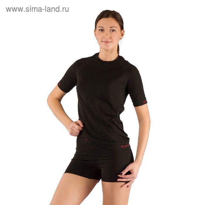 Футболка женская Alba/ кор. рукав/ синтетика/ черный/ XXS-XS