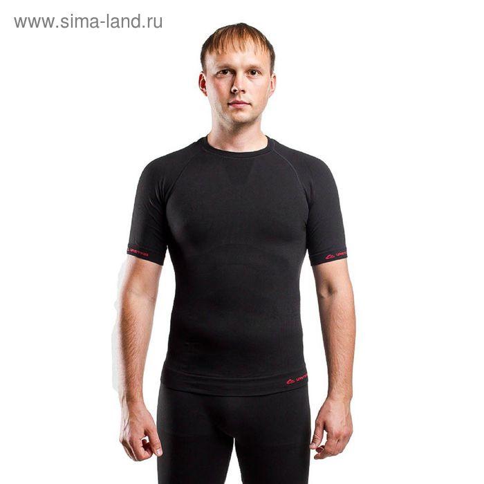 Футболка мужская Abel/ кор. рукав/ синтетика/ черный/ S-M
