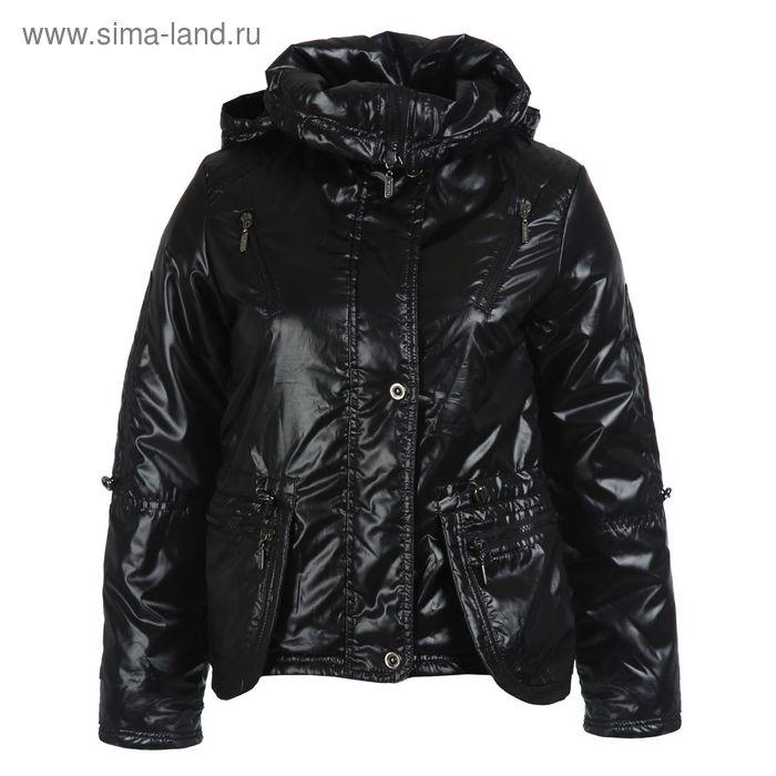 Куртка для девочек демисезонная, рост 164 см, цвет чёрный 17-521