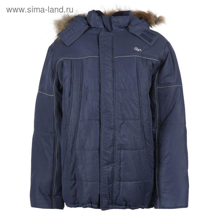 Куртка для мальчиков зимняя, рост 152 см, цвет тёмно-синий 17-412