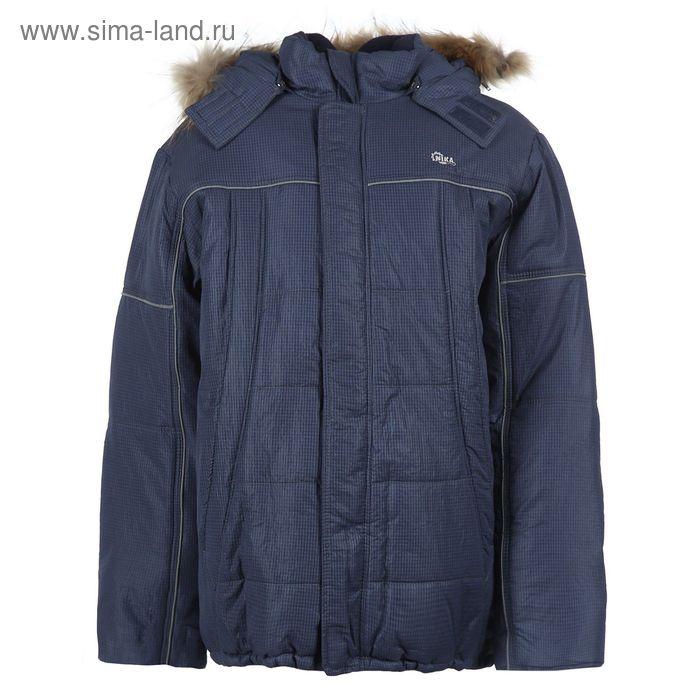 Куртка для мальчиков зимняя, рост 164 см, цвет тёмно-синий 17-412