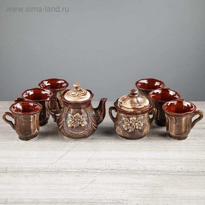 """Чайный набор """"Ажур"""" 8 предметов"""